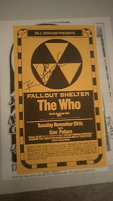 The Who 1973 Townshend Rock  Autographed Concert Poster