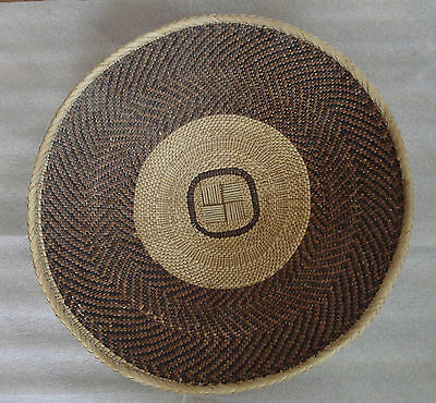 """Antique Hand Woven Coiled African Basket Bowl 14""""large"""