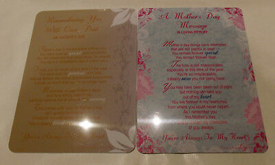 Memorial Graveside Cards Mother's Day Mum, Father's Day Dad