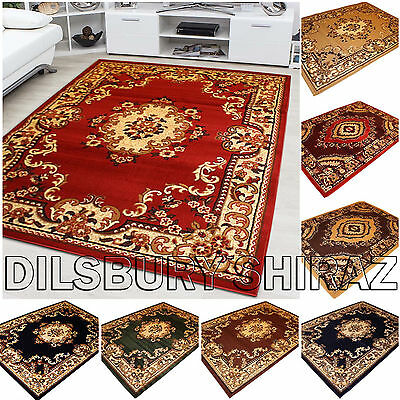 Brand New Classic Traditional Persian Style Floral Shiraz Rugs Carpets (S/M/L/X)