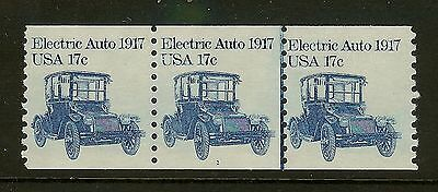 USA 1984 Scott 1906 17c Electric Auto Coil Strip of 3 #1 Wide Margin Mint NH