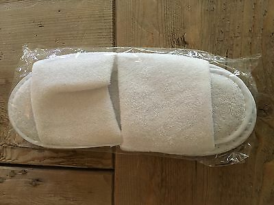 1 pair white spa slippers unisex FREE SHIPPING