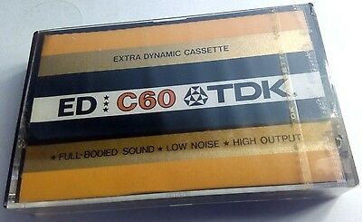 CASSETTE TAPE BLANK SEALED - 1x (one) TDK ED C60 [1973-74] - made in Japan