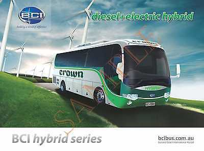 Bus Brochure Bci: Hybrid Series Coach Laminated Card Specifications