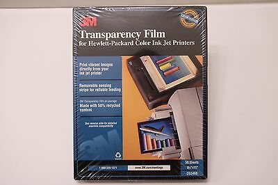 "NEW 3M Transparency Film Inkjet Printers 50 Sheets 8.5"" x 11"" in CG3460 SEALED"