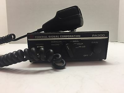 Federal Signal Corporation PA300 Series 100 Watt Siren Control Unit
