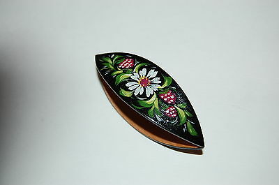 Very Large Wooden Hand Painted Tatting Shuttle