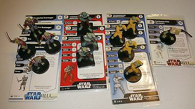 Star Wars Miniatures Trandoshan Lot Elite Mercenary 7x Mercenary 4x Scavenger