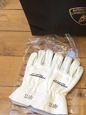 Lamborghini Murcielago Gallardo Diablo Countach Miura Huracan Leather Gloves New