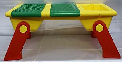 1994 Portable Lego Building Table Carry Handle 2 Green Base Plate's Storage