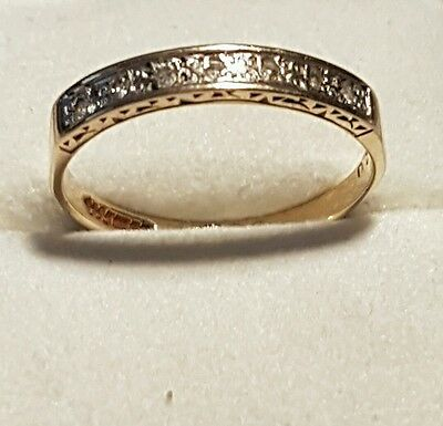 9CT YELLOW GOLD ENTITY DIAMOND RING size P fully hallmarked