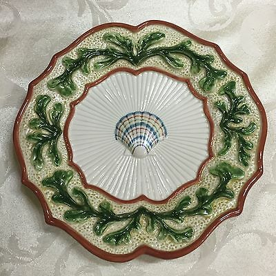 """Fitz And Floyd Fish Market Classics Shell Plate 8 1/2 """" 3D"""
