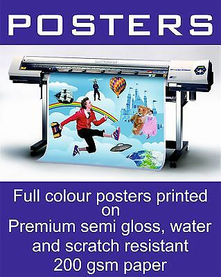 A1 Waterproof Outdoor Colour Poster Printing, Snapframe,  A1