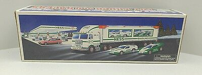 1997 Hess Toy Truck and Race Cars NEW!!