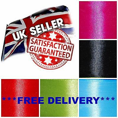 UK SELLER  * DOUBLE SIDED SATIN RIBBON  6mm 12mm 25mm 38mm 50mm  Various Colours