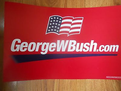 GEORGE W BUSH  2004   Election Poster 12 x 19   double sided