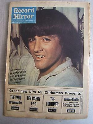 RECORD MIRROR Dec 11 1965 pop music paper PROBY Beatles ROLLING STONES The Toys