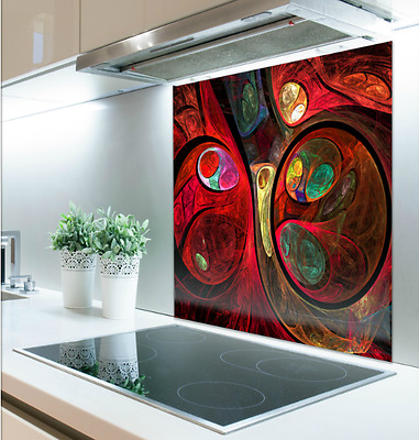 60cm x 75cm Digital Print Glass Splashback Heat Resistant Toughened 87366841