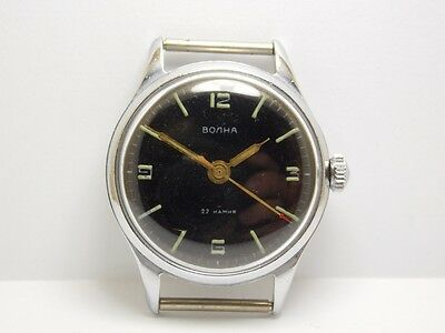 Vintage VOLNA WOSTOK Precision 2809 A Russian Mechanical Watch 22 Jewels