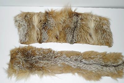 2 NICE PIECES OF LYNX FUR - for sewing or craft use.