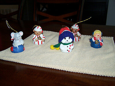 Giftco Christmas Bells Mouse Bear Snowman Caroler