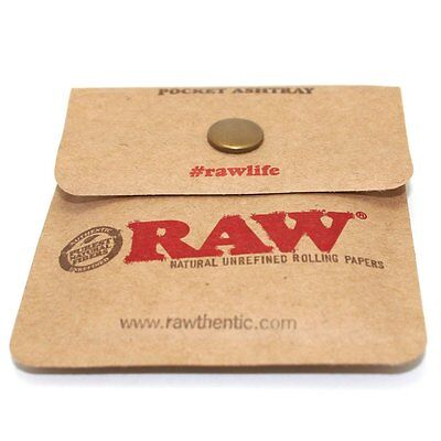 RAW Rolling Papers Pocket Ashtray For Cigarettes Flexible Portable Travel Pouch