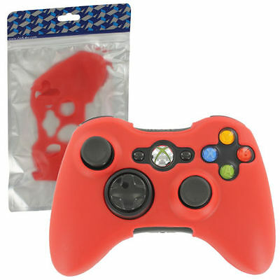 cover silicone case for Xbox 360 controller skin protector bumper cover - red