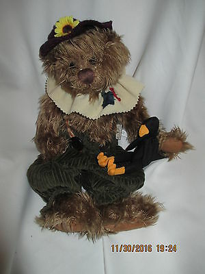 Scarecrow Bear Ganz Cottage 14 inches tall