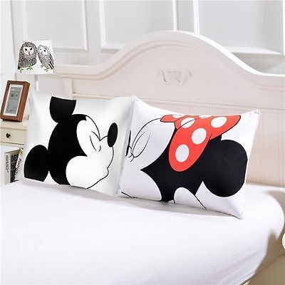 Mickey Mouse Funny Pillowcases Him Her Christmas Romantic Valentine's Gift 2Pcs