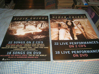 DIXIE CHICKS-(top of the world tour-live)-1 POSTER FLAT-2 SIDED-12X18-NMINT-RARE