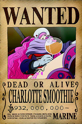 One Piece WANTED Poster (26 x 40 cm)  – CHARLOTTE SMOOTHIE