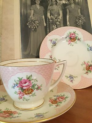 Vintage Cup Saucer Plate Trio Csp For High Afternoon Tea Minton Keswick England