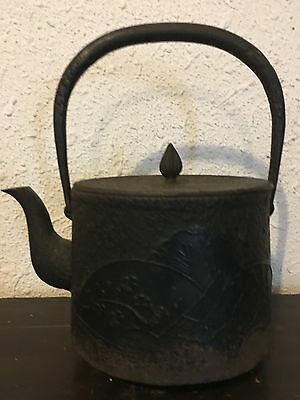 Beautiful Japanese Traditional Iron  Tea Kettle Chagama Tea Ceremony