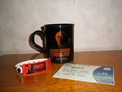LED ZEPPELIN Ahmet Ertegun 02 Vintage TICKET, MUG, WRIST BAND Tour Collectables