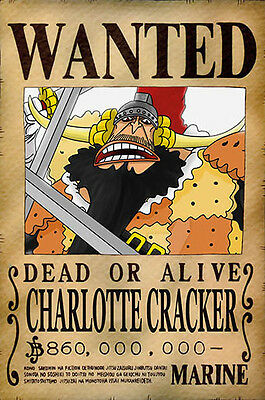 One Piece WANTED Poster (26 x 40 cm)  – CHARLOTTE CRACKER