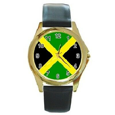 Jamaica Jamaican Reggae Round Wristwatch **superb Item**
