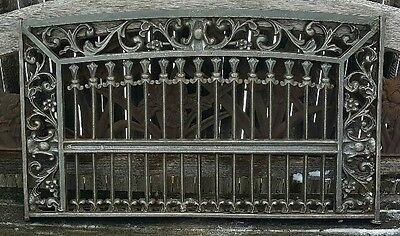 High Victorian Gothic Architectural Salvage Iron Decorative Window Guard Grille