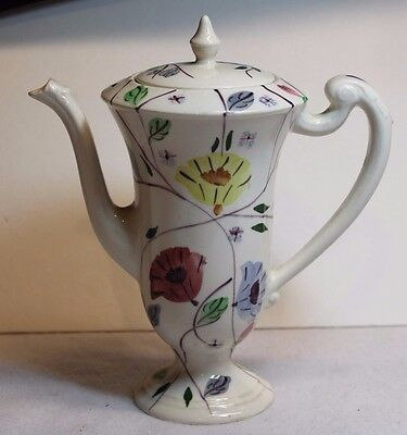 Vintage Blue Ridge Pottery Chocolate Pot In Chintz Pattern Southern Potteries