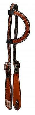 Showman Argentina leather single ear headstall CROSS Conchos! NEW HORSE TACK!
