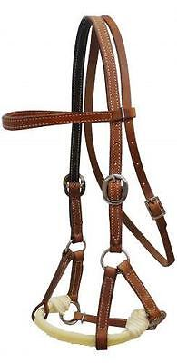 NEW Showman Argentina leather side pull! HORSE TACK! TRAINING! BITLESS BRIDLE!