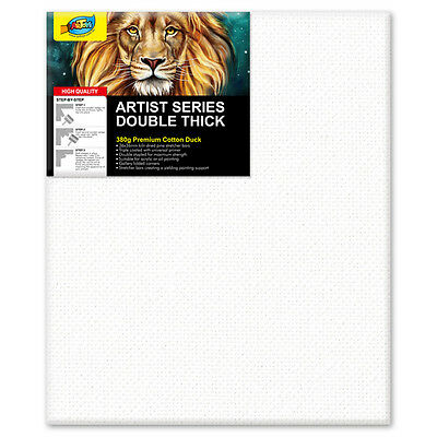 """Artoys Studio Blank Canvas Double Thick 10x12"""" (25.4x30.5cm) 380gsm 35mm Thick"""