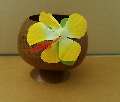 Coconut Cup Plastic Cup With Flower Parties Pool Party Cocktail Party Bbq