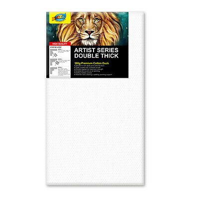 "Artoys Studio Blank Canvas Double Thick 12x24"" (30.5x60.9cm) 380gsm 35mm Thick"
