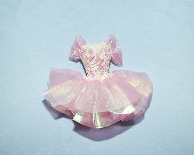 SHIMMERING Frosty Pink/Purple White Lace Accent Genuine BARBIE Party Dress -NEW!