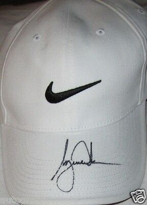 Tiger Woods autographed signed auto white Nike golf cap or hat IN PERSON COA
