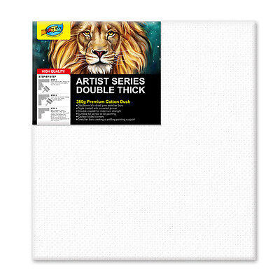 "Artoys Studio Blank Canvas Double Thick 24x24"" (60.9x60.9cm) 380gsm 35mm Thick"