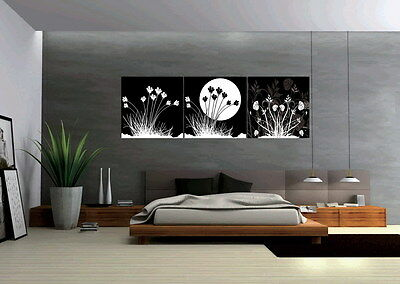 Black and white oil painting on Canvas HD Print Wall Art Painting Picture Decor