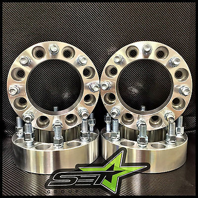 8X170 Wheel Spacers 2 Inch (50Mm) 99-02 8 Lug Adapters Ford Superduty Excursion