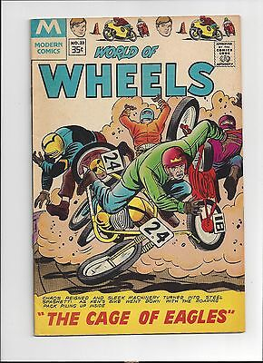 World of Wheels #23 Charlton Comics 1968 Fine Condition Motorcycles Cover