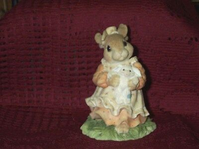 My Blushing Bunnies You're A Blessing From Above 1995 Mom & Baby Bunny 3 3/4""